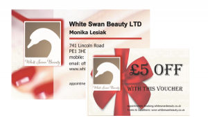 White Swan Beauty Business Cards